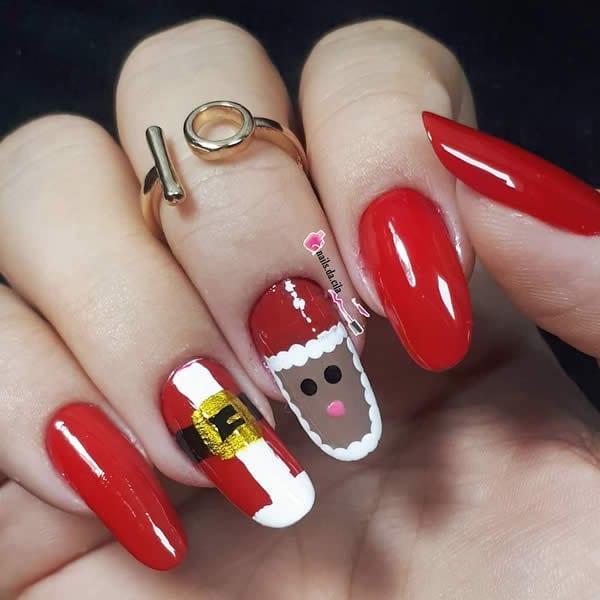 unhas de papai noel