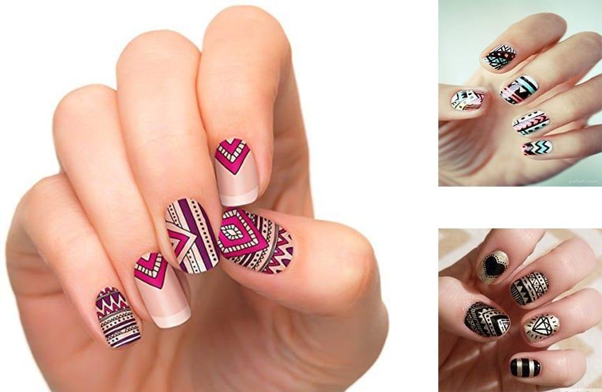 Unhas decoradas aztec nails modelos