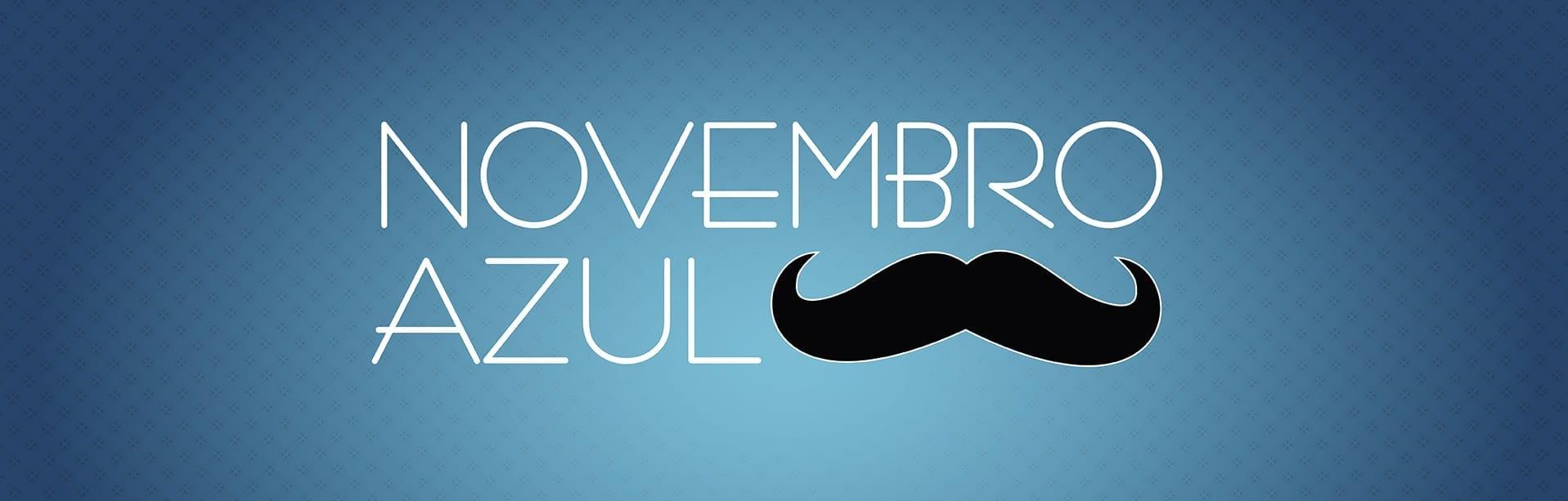 Unhas decoradas Mustache novembro