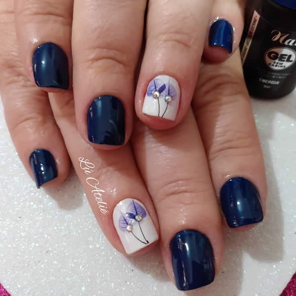 unhas decoradas lindas gel sem cabine