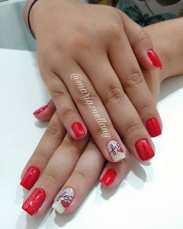 unhas vermelhas simples