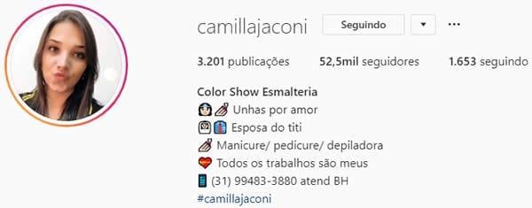 biografia instagram de manicure