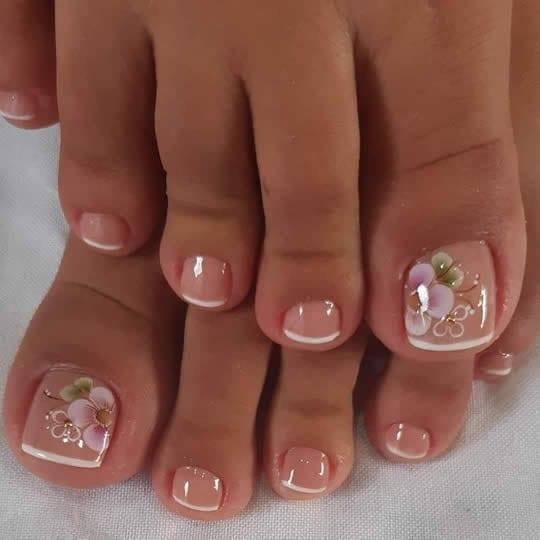 unhas do pé decoradas