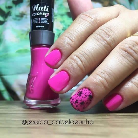 esmalte rosa pink