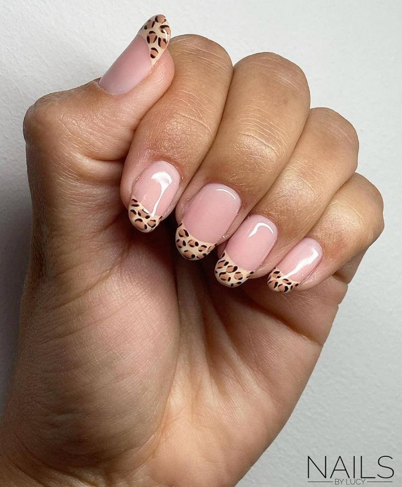 unhas decoradas animal print