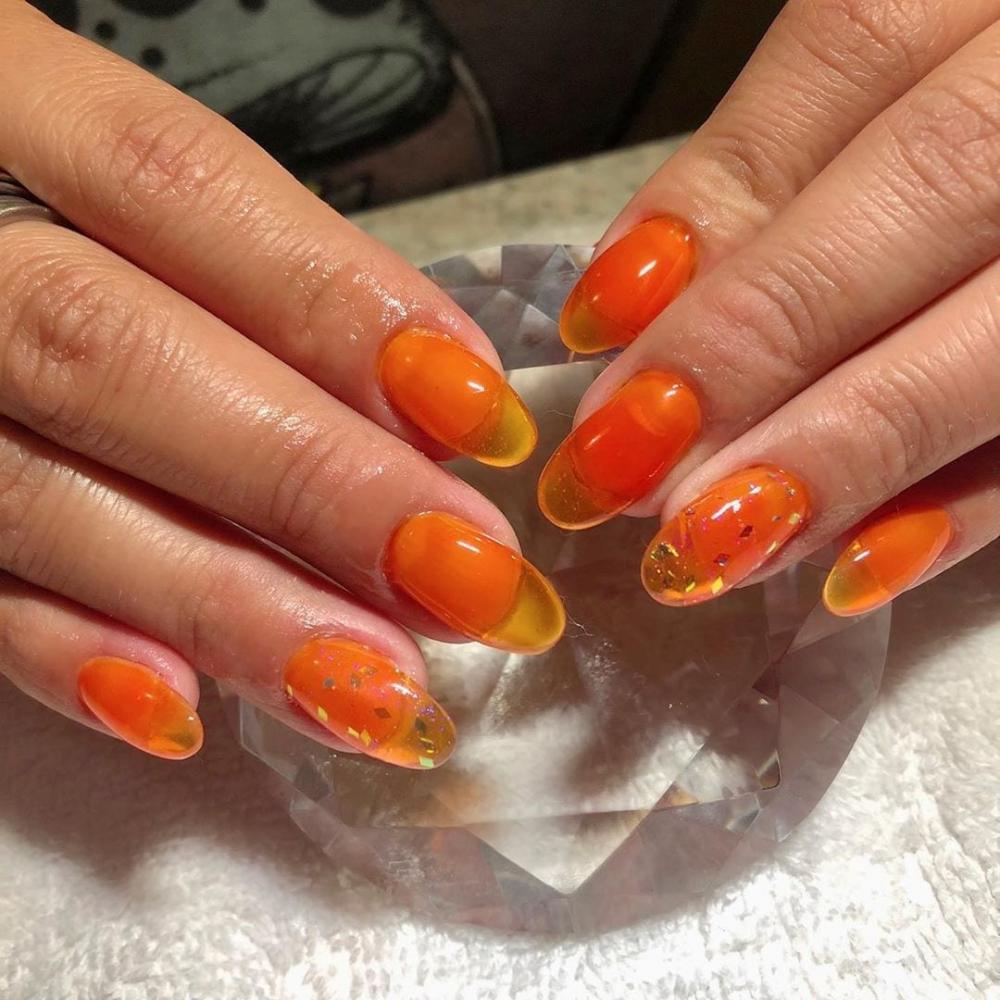 jelly nails laranja