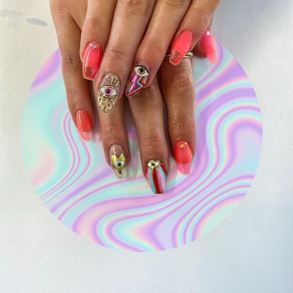 jelly nails pink
