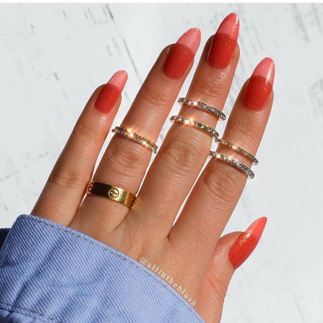 jelly nails vermelho