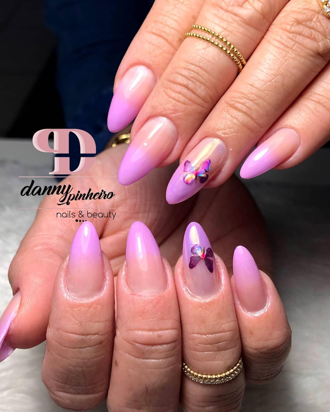 unha baby boomer baby color lilás