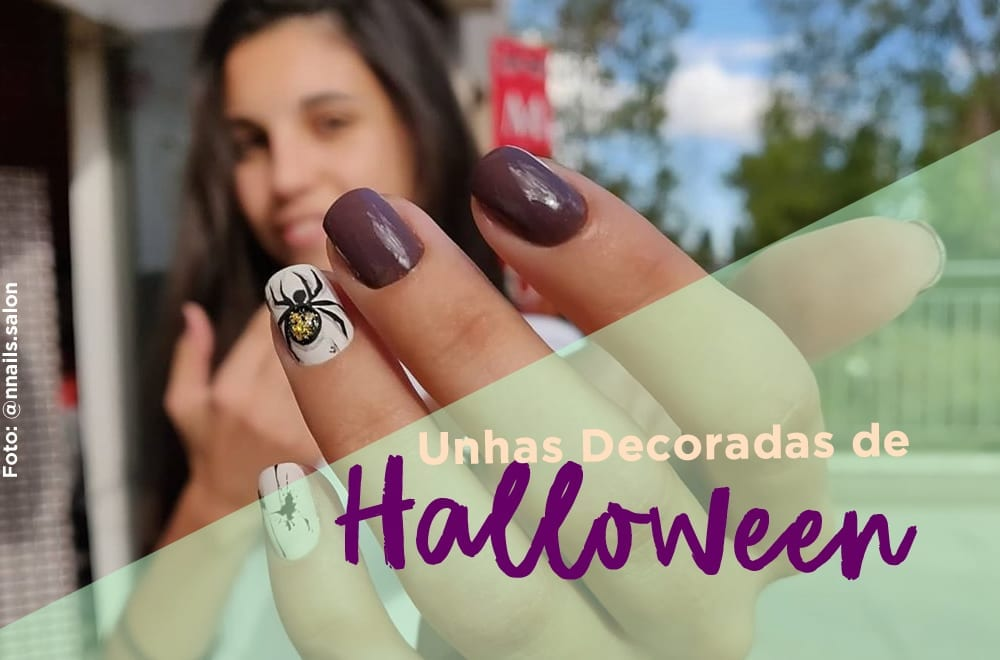unhas decoradas de halloween