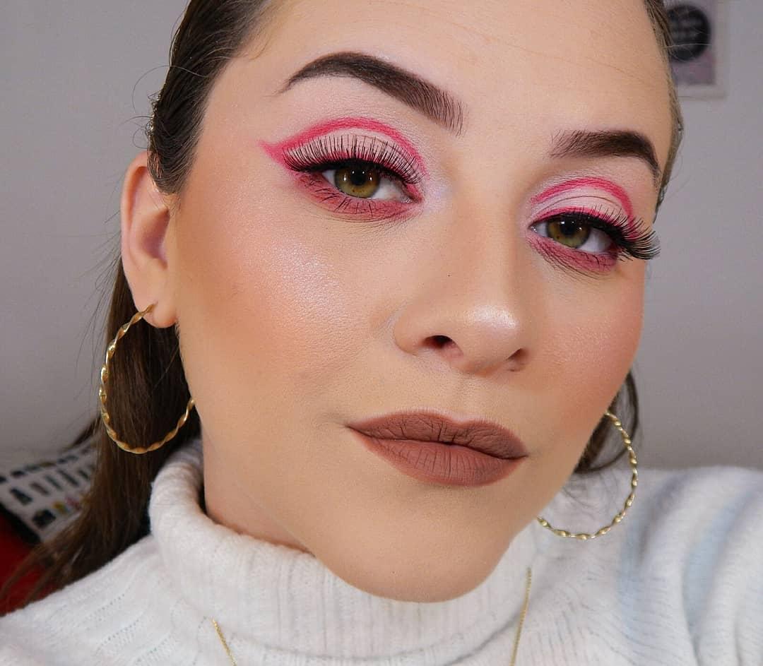 delineado gráfico com sombra rosa