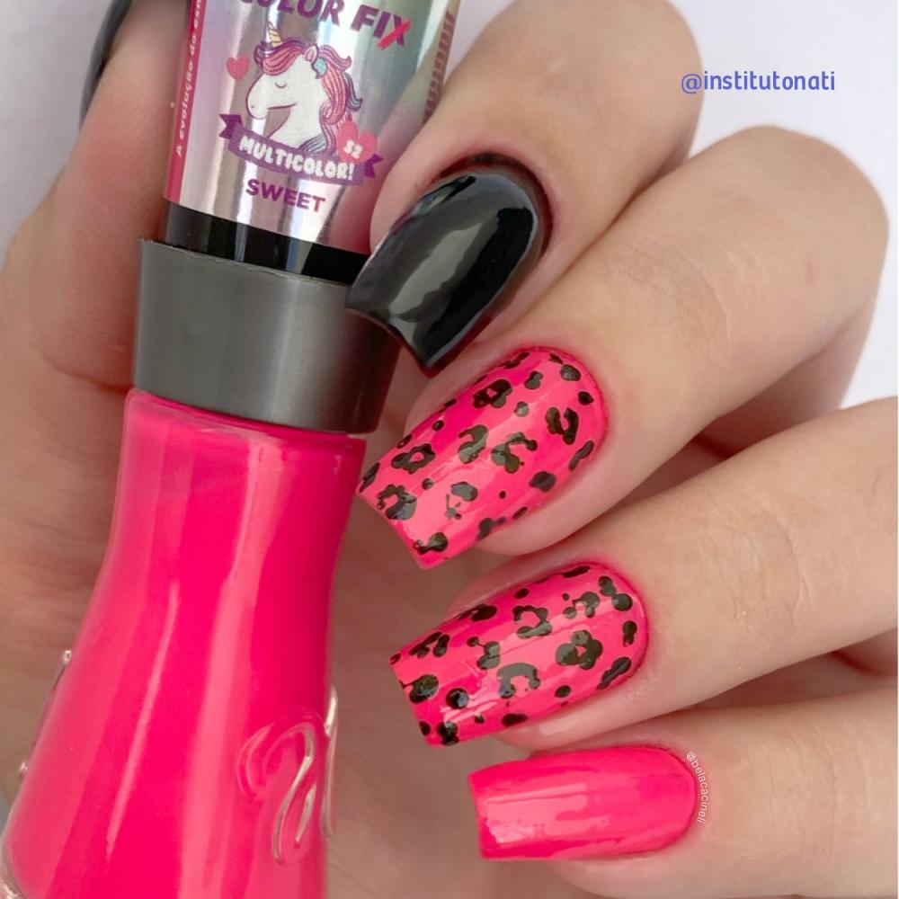 esmalte neon unhas decoradas